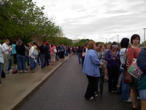 The line to just get in!