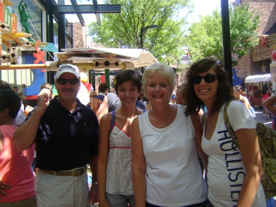 Random photo of my family at Disney! Showing how awesome my Mom is!!