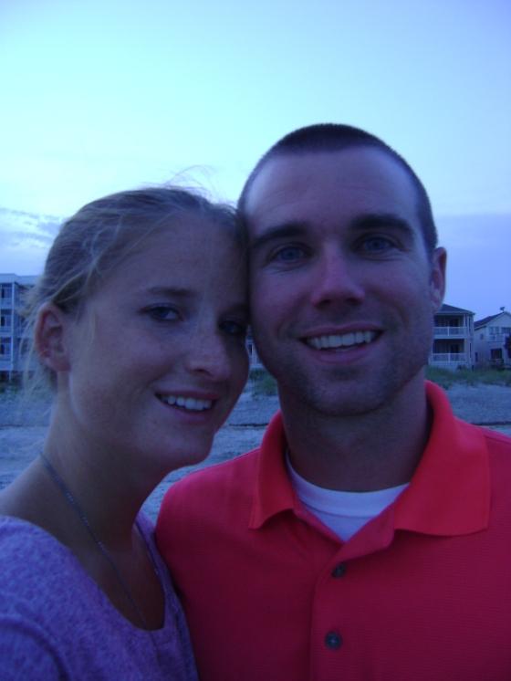 Random photo of B and I at the Beach!