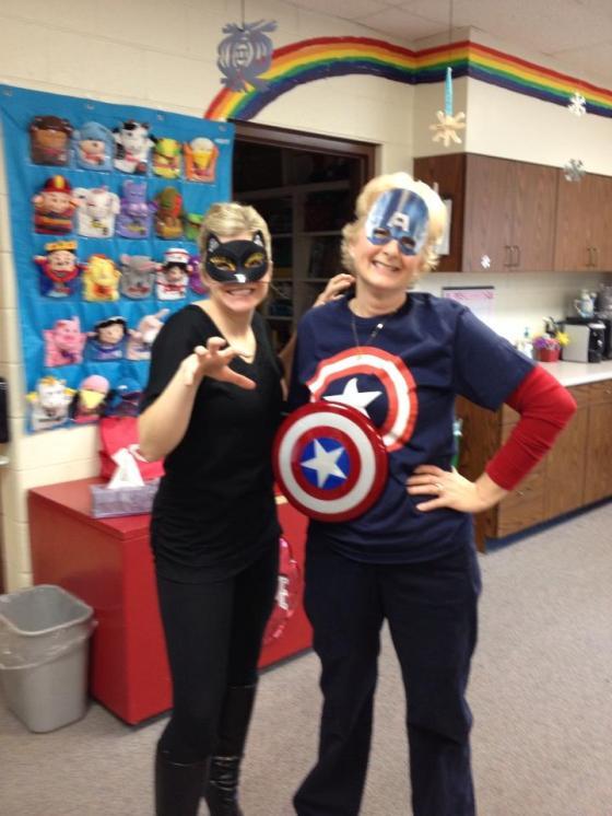 Mom as Captain America!