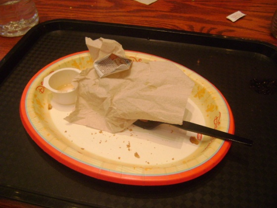 I was too hungry to take a picture before!
