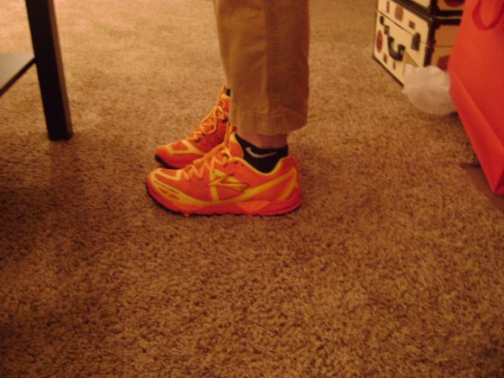 B's very bright trail shoes!