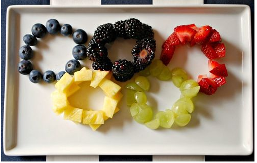 Don't judge me if my fruit platter looks like this!